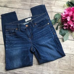 "Madewell Skinny Skinny Crop 9"" Rise Medium Wash"